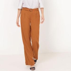 Pantalon fluide ceinturé, coupe large La Redoute Collections