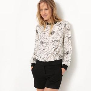 Sweatshirt-Style Printed Blouse R studio