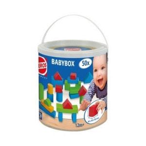 HEROS La boîte Baby-Box de 50 cubes de construction en bois jouet en bois HEROS