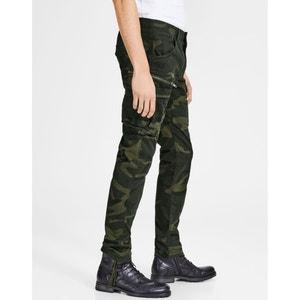 Pantalon battle, camouflage, coupe slim, stretch JACK & JONES