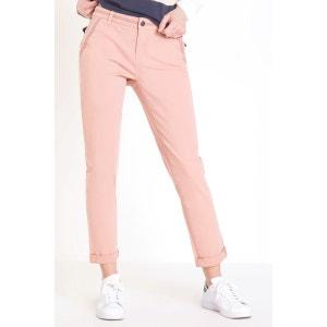 Pantalon chino 7/8e femme liserés BONOBO