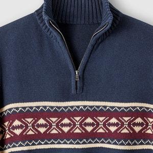 Pullover mit Reissverschluss, Jacquardmuster CASTALUNA FOR MEN