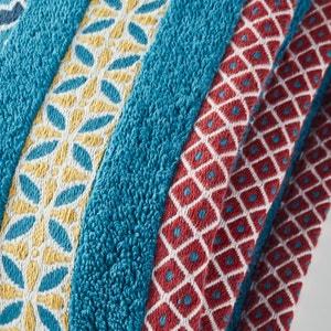 Evora Cotton Maxi Bath Sheet with Coloured Border. La Redoute Interieurs