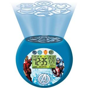 Radio-réveil enfant LEXIBOOK Projecteur Boule Avengers LEXIBOOK