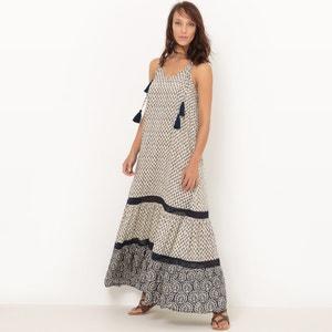Vestido maxi con tirantes finos La Redoute Collections