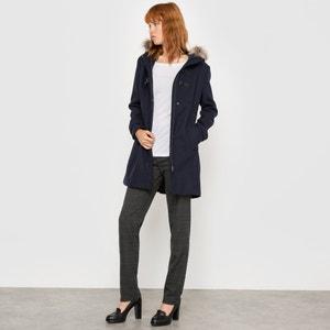 Duffle-coat long 50% laine R essentiel