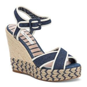 Sandales compensées denim Walker PEPE JEANS