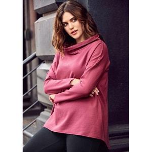 Flared Sweatshirt Style Top with Long Sleeves CASTALUNA