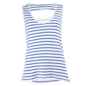T-shirt Doriane Blanc et Bleu LITTLE MARCEL