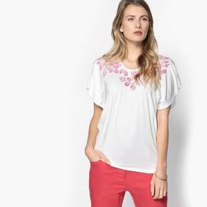 T-shirt col rond fluide imprimé ANNE WEYBURN