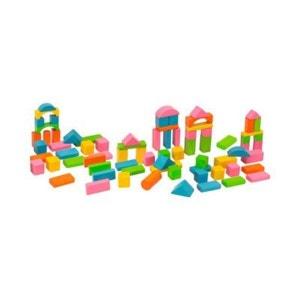 HEROS Les 75 cubes en bois coloré Happy Colours jouet en bois HEROS
