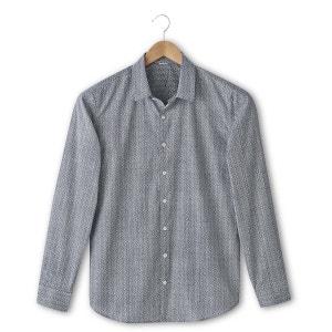 Camisa estampada corte slim SOFT GREY