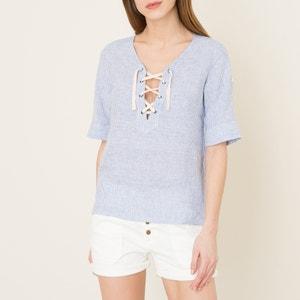 Gestreepte blouse in linnen HARTFORD