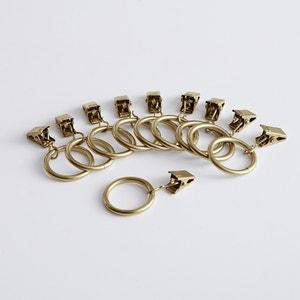 Confezione di 10 morsetti con anelli pronti da usare La Redoute Interieurs