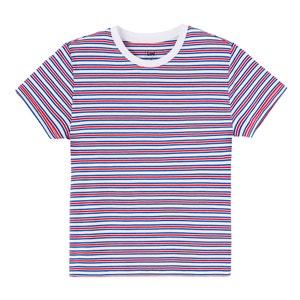 T-Shirt mit rundem Ausschnitt und aufgedruckten Streifen LEE
