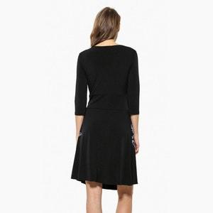 Vestido corto, mangas 3/4 DESIGUAL