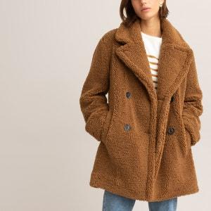 Bouclé Teddy Faux Fur Coat