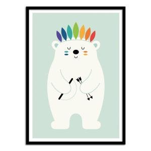 Affiche 50 x 70 cm - Bébé Ours Blanc WALL EDITIONS