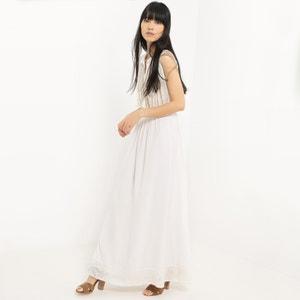Kleid, lange Form, ärmellos, uni SUNCOO