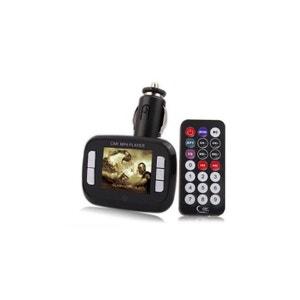 Transmetteur FM 1.8'' lecteur MP3 MP4 USB SD et Micro SD noir Yonis