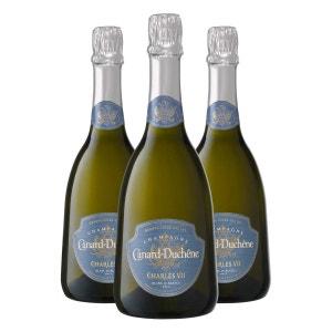 Charles VII Blanc de Blancs Bouteille avec coffret Lot de 3 bouteilles CHAMPAGNE CANARD-DUCHENE