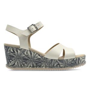 Akilah Eden Leather Wedge Sandals CLARKS
