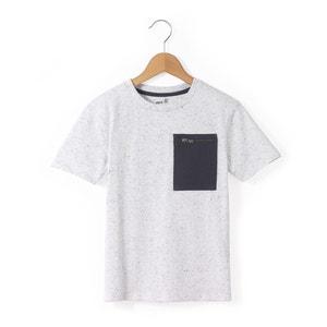 T-Shirt, gesprenkelt, Brusttasche, 3–12 Jahre abcd'R