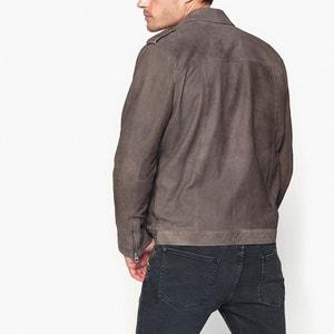 Mid-Season Short Leather Bomber Jacket PEPE JEANS