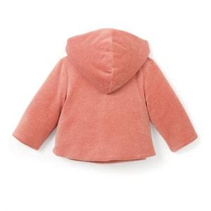 Vest in fluweel met kap 0 mnd - 2 jaar La Redoute Collections