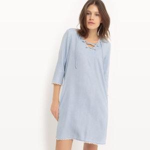Flared Denim Dress ONLY