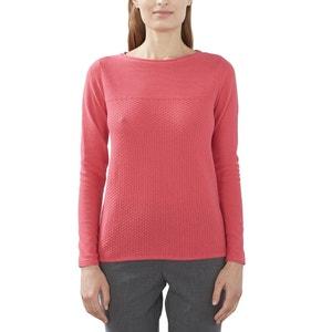 Pullover, runder Ausschnitt, reine Baumwolle ESPRIT