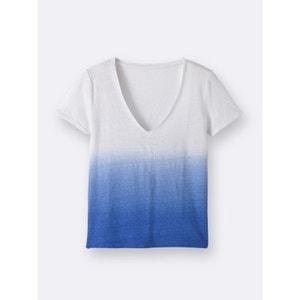 T-shirt femme en lin tie and dye CYRILLUS