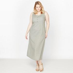 Vestido largo lino/algodón CASTALUNA