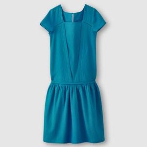 Short-Sleeved Drop Waist Dress R studio