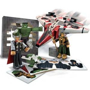 Avengers (Marvel) - Set Papercraft Avenjet Aircraft Vehicle Pack JAZWARES