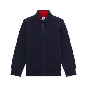 Cardigan garçon laine et coton PETIT BATEAU