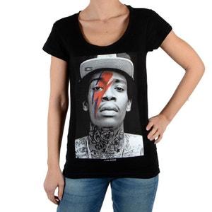Tee Shirt Kalifa W Eclair Wiz Khalifa Noir ELEVEN PARIS