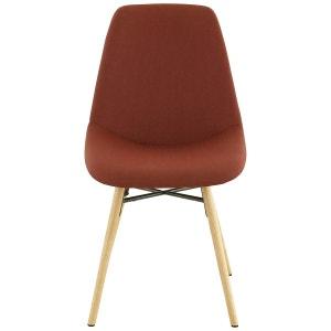 2x Chaise tissu et chêne naturel May ZAGO