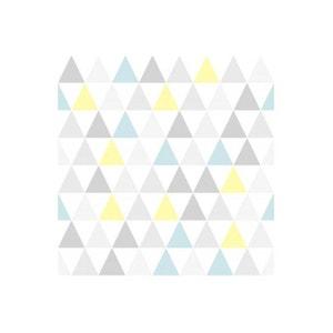 Papier Peint Graphic Triangle Jaune Bleu DECLIKDECO