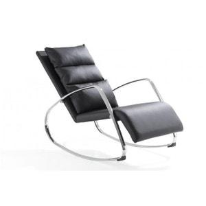 Chaise à Bascule Design Noir LUXE DECLIKDECO