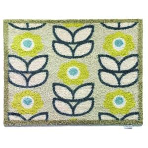 Tapis en fibres naturelles motifs fleurs 65x85 cm JARDINDECO