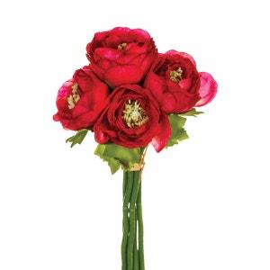Fleurs artificielles Bouquet 6 Renoncules - H. 25 cm - Rose ATMOSPHERA