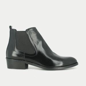 Boots cuir talon plat Reva JONAK
