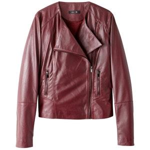 Куртка кожаная в байкерском стиле La Redoute Collections