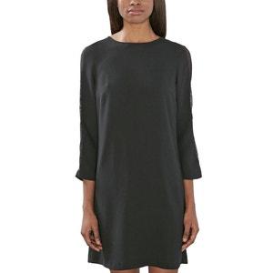 Kleid, gerade Form, 3/4-Ärmel ESPRIT