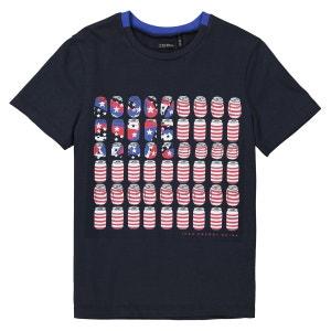 T-shirt col rond imprimé canettes 3-14 ans IKKS JUNIOR
