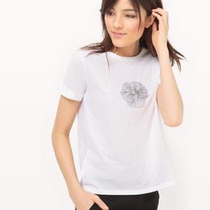 T-Shirt, Rundhalsausschnitt, Baumwolle, schöne Rückenansicht MADEMOISELLE R
