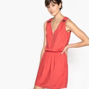 Wijduitlopende effen korte jurk zonder mouwen KAPORAL 5