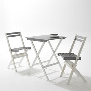 Set de jardin avec 1 table et 2 chaises pliantes La Redoute Interieurs