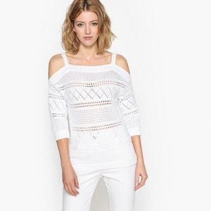 Pullover mit Ajourmuster aus reiner Baumwolle ANNE WEYBURN